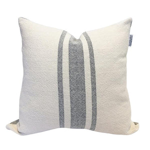 Vintage Stripe Pillow - Gray