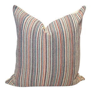 Multi Stripe Pillow - Americana & Natural