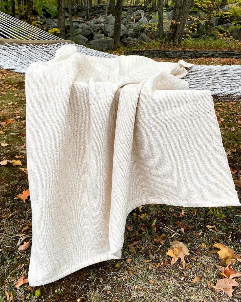 Cream Throw Blanket