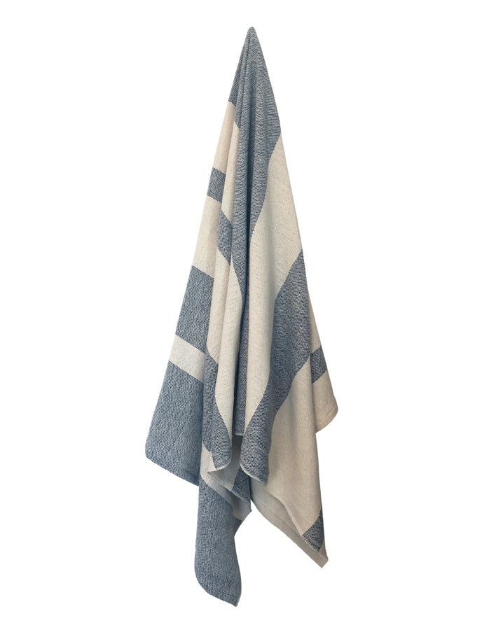 Striped Spa Towel - Gray