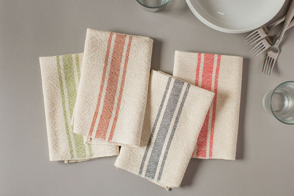 Vintage Stripe Napkin - Light Gray