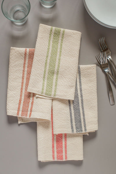 Vintage Stripe Napkin - Hunter