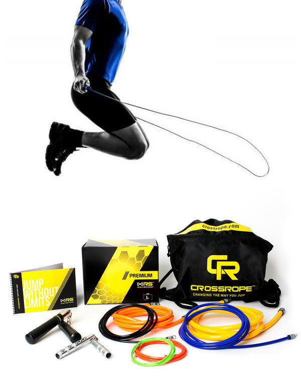 Jump Ropes Premium Set - Complete, Portable, Full-Body Solution by Crossrope