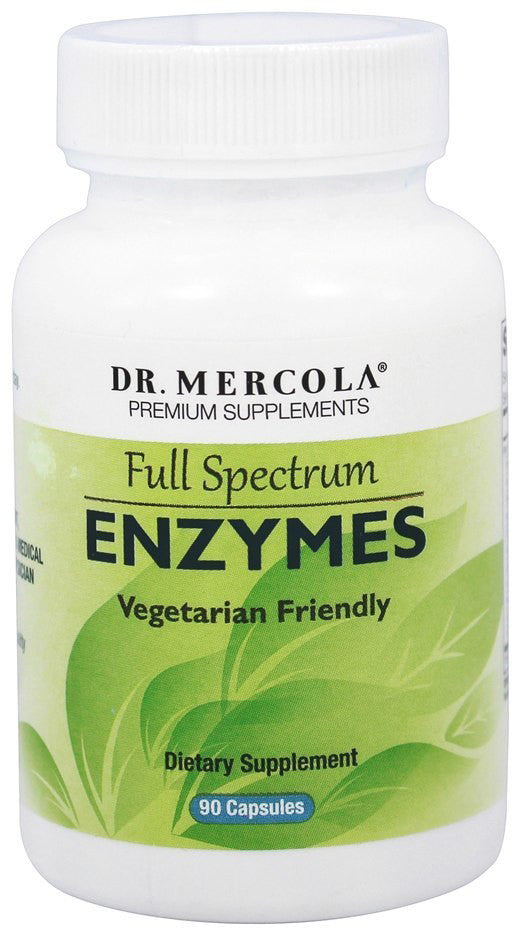 Full Spectrum Enzymes -Prevent Occasional Bouts of Bloating & Indigestion by Dr. Mercola