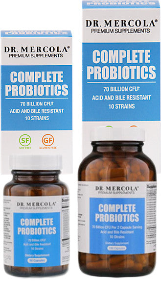 Complete Probiotics 70 Billion CFU - Helps Maintain A Healthy Flora & Promotes Digestion by Dr. Mercola