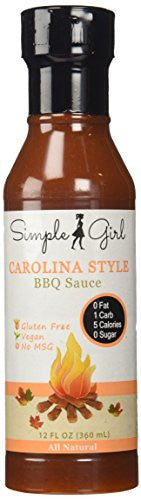 Carolina Style BBQ Sauce - Sugar FREE with Zero Glycemic Index by Simple Girl