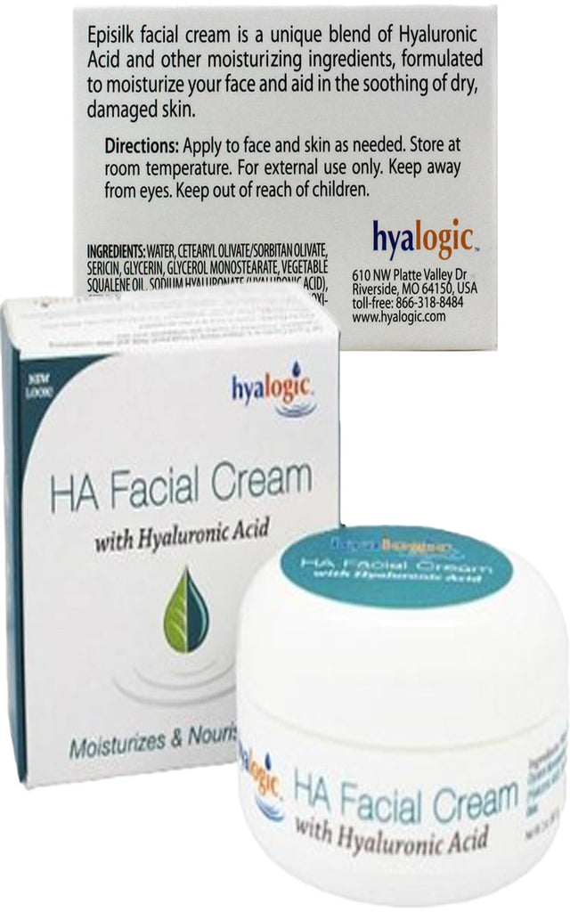 HA Facial Cream - Provides Powerful Firming & Replenishes Moisture with Emollients by Hyalogic