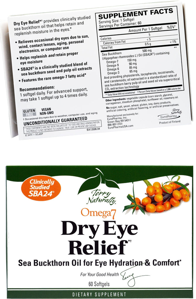 Omega7 Eye Relief - Sea Buckthorn Oil for Eye Hydration & Comfort by Terry Naturally