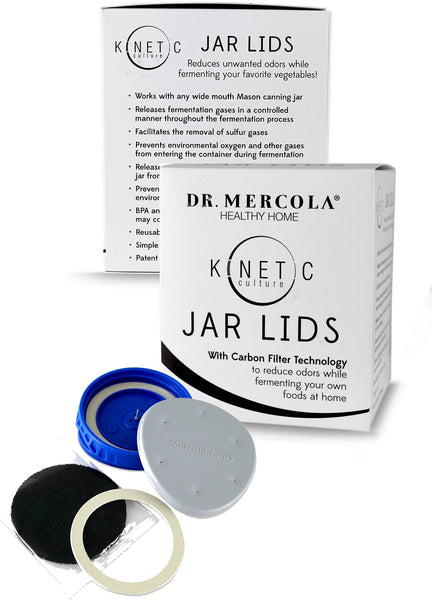 Kinetic Culture Fermenting Jar Lids - Facilitating The Removal of Sulfur Gases by Dr. Mercola