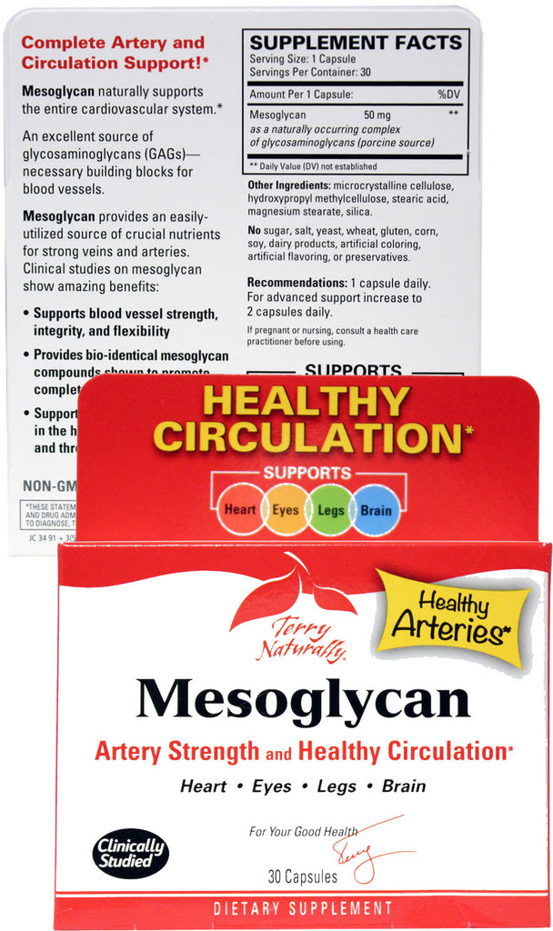 Mesoglycan - Artery Strength & Healthy Circulation by Terry Naturally