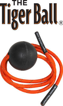 Tiger Ball Massage-On-A-Rope - Massage Ball For Busting Out Muscle Knots by Tiger Tail USA