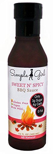 Sweet N' Spicy - A Tasty Low Sugar, Low Calorie BBQ Sauce by Simple Girl