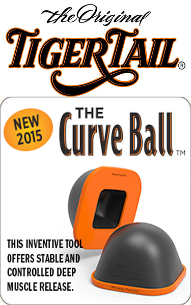 The Curve Ball - Stable & Controlled Deep Muscle Massager by Tiger Tail USA