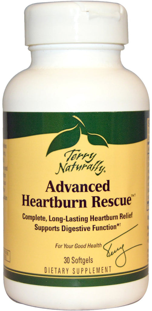 Advanced Heartburn Rescue - Complete Long-Lasting Heartburn Relief by Terry Naturally