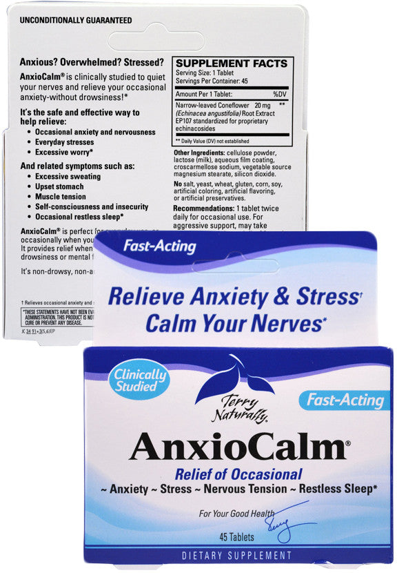 AnxioCalm - For Everyday Stress & Occasional Anxiety by Terry Naturally