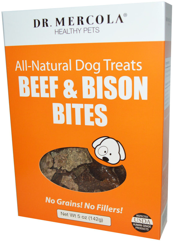 Beef & Bison Bites - All Natural , Truly Nutritious, 100% Liver Treat  by Dr. Mercola