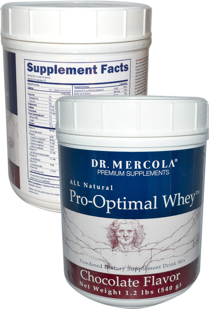 Pro-Optimal Whey - All Natural Powdered Dietary Supplement Drink Mix by Dr. Mercola