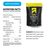 Ascent Native Fuel Whey Protein Powder Blend - 2 lbs - Unflavored