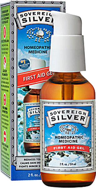 Sovereign Silver First Aid Gel - Perfect Alternative to OTC Conventional & Herbal Topical Treatments by Natural Immunogenic