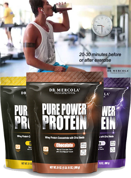 Pure Power Protein - Whey Protein Concentrate With Chia Seeds by Dr. Mercola