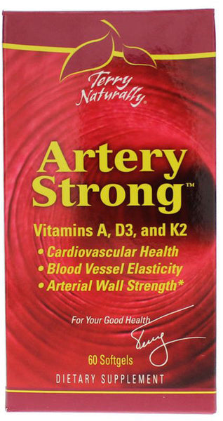 Artery Strong - Vitamins A, D3, and K2 for Vascular Elasticity & Strength by Terry Naturally