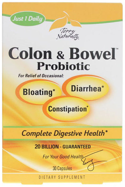 Colon & Bowel Probiotic - Support Healthy Intestinal Flora & Digestive Health by Terry Naturally