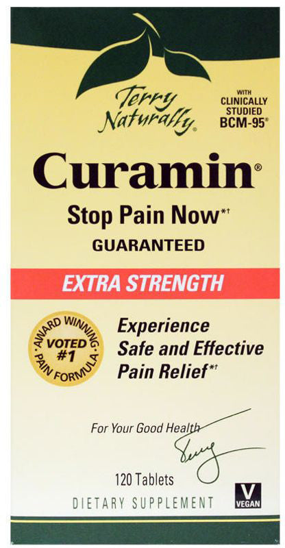 Curamin Extra Strength - Safe & Powerful Pain Relief with BCM95 Curcumin by Terry Naturally