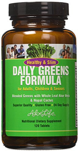 Aloe Life - H&S Daily Greens 120 tabs