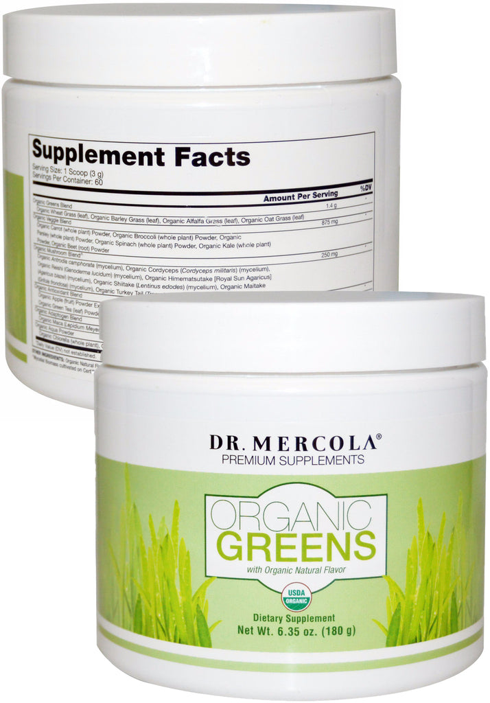 Organic Greens - A Superfood Supplement That Helps Increase Your Daily Nutrient Intake by Dr. Mercola