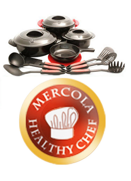Healthy Chef Ceramic Cookware - Healthy Alternative for all Food Preparation Needs by Dr. Mercola