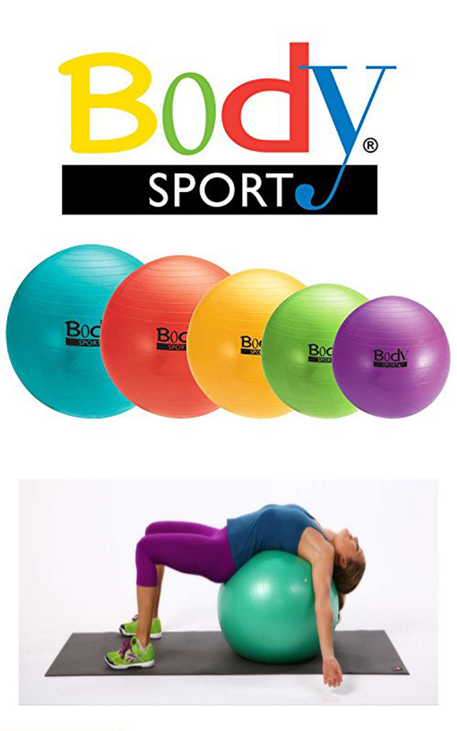 Fitness Balls - Balls Great for Yoga Fitness Pilates or Desk Chair by BodySport