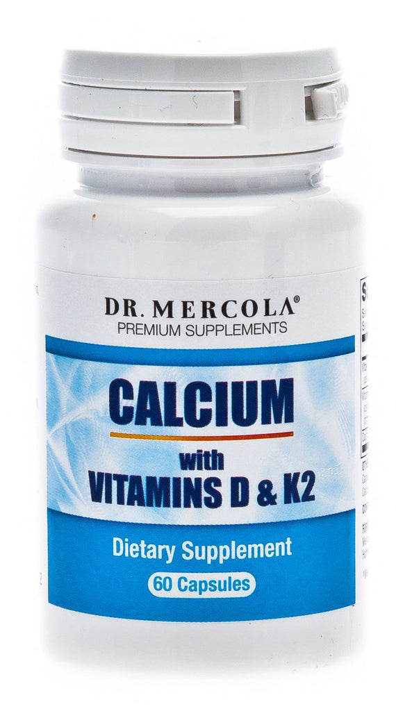 Calcium With Vitamin D & Vitamin K2 - Total Bone Health Support by Dr. Mercola
