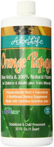 Aloe Life - ORANGE PAPAYA 1 Qt