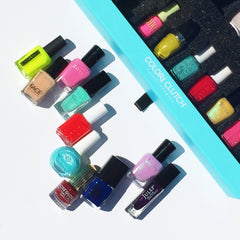 Color Clutch nail polish storage summer pairings manicure pedicure