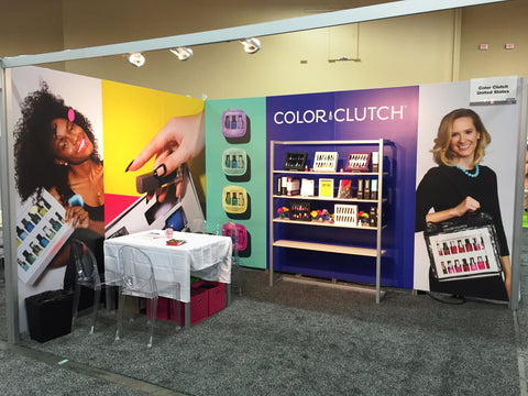 Color Clutch booth at CosmoProf