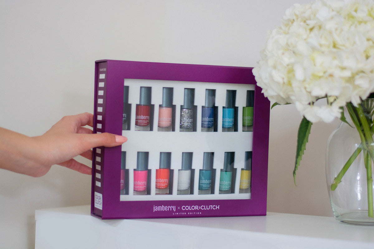 jamberry x color clutch 14bottle case
