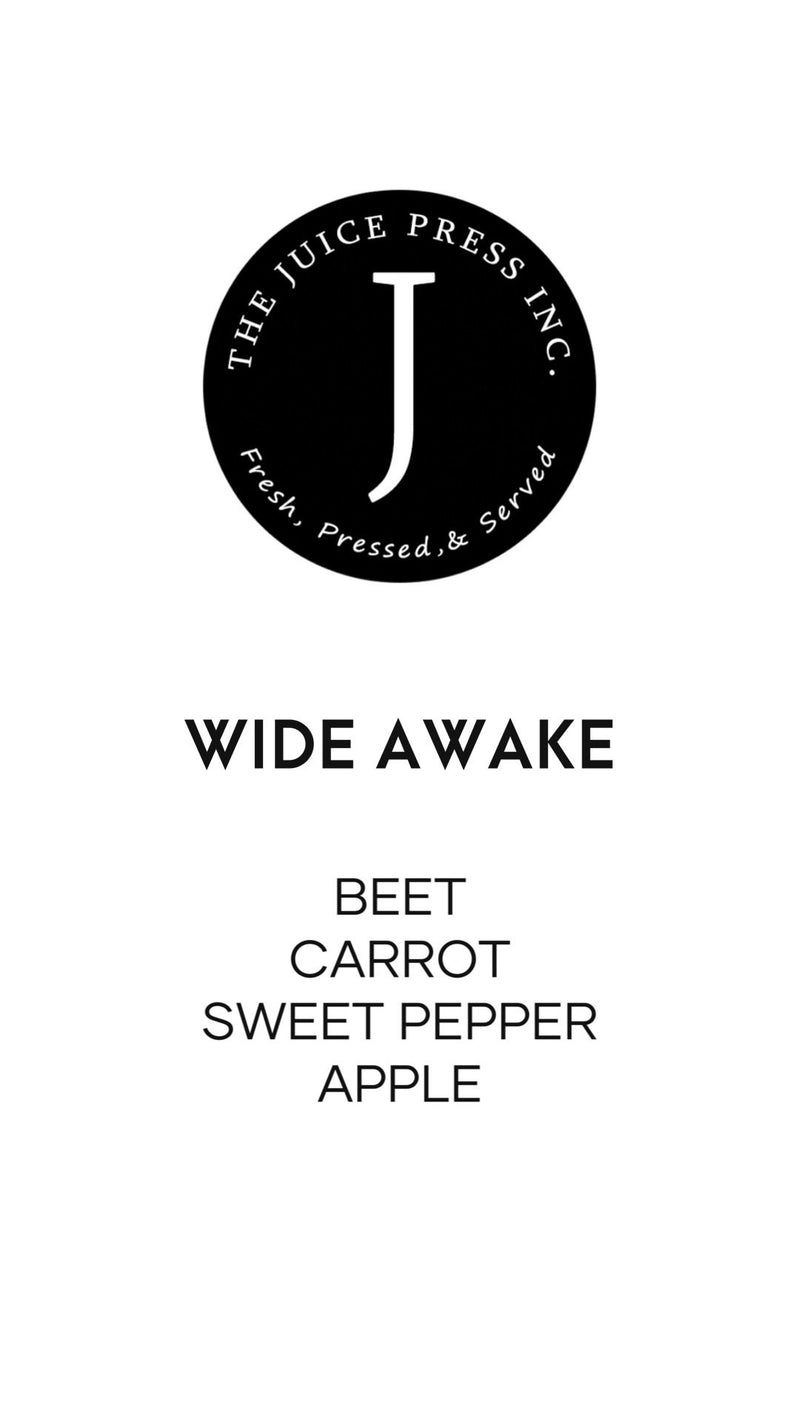 WIDE AWAKE - The Juice Press Inc.