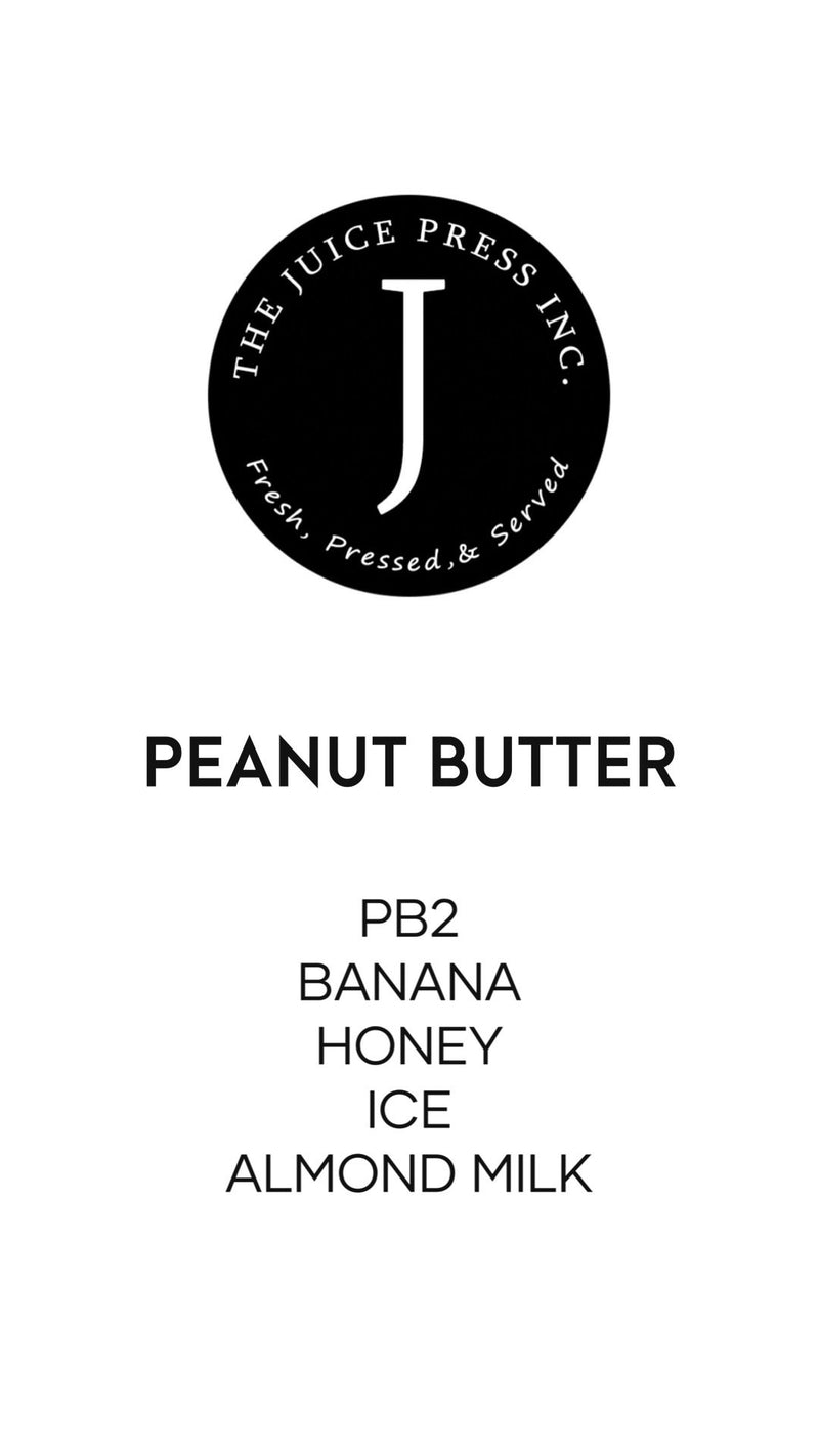 PEANUT BUTTER - The Juice Press Inc.