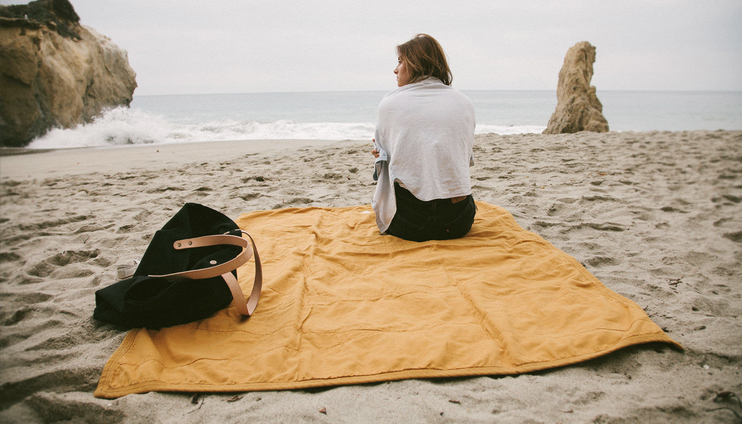 All Purpose Field Blanket in Gold by Campover | lifestyle