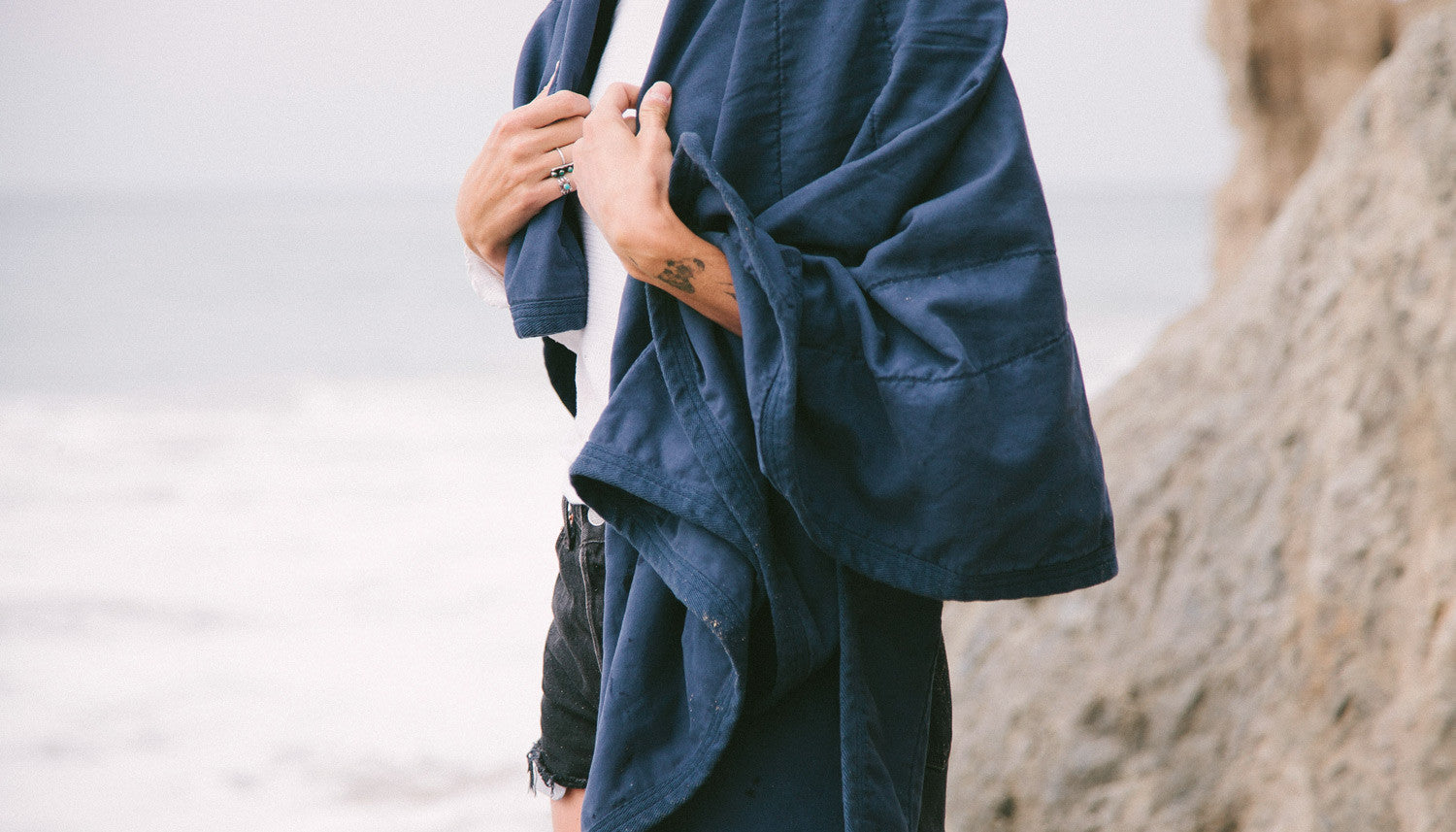 All Purpose Field Blanket in Navy by Campover | lifestyle