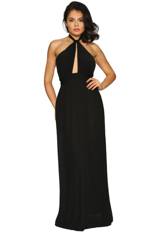 BRITT MAXI DRESS BLACK GLAM ENVY