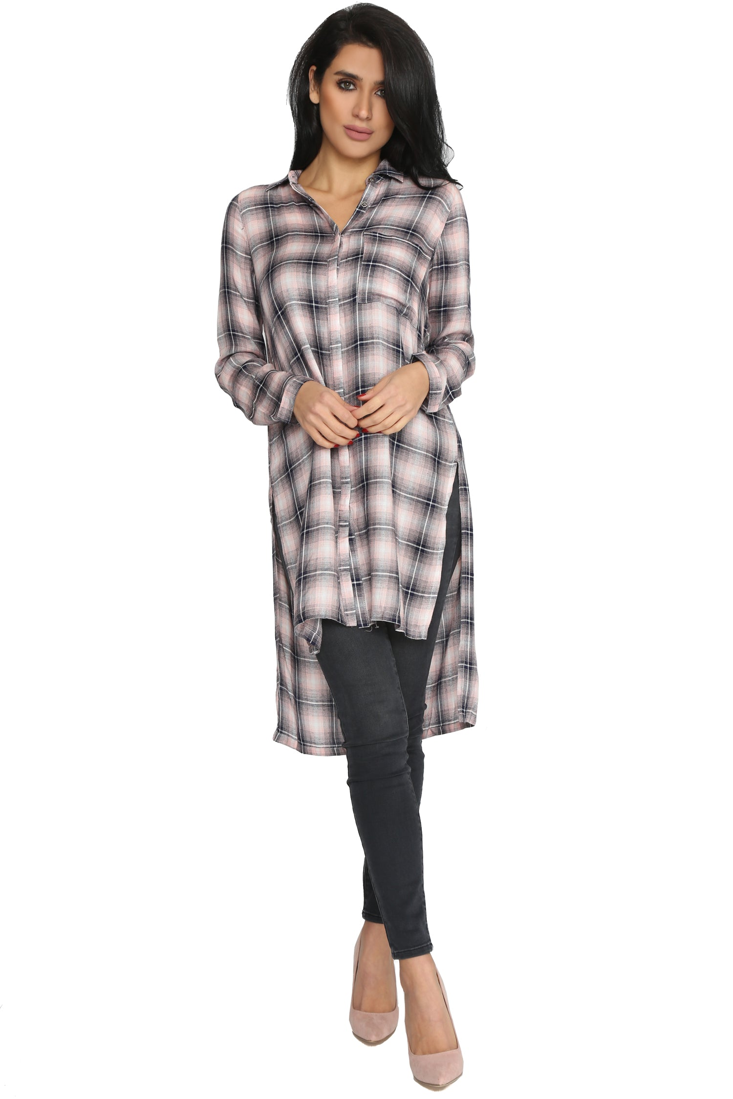 BY THE FIREPLACE FLANNEL TUNIC