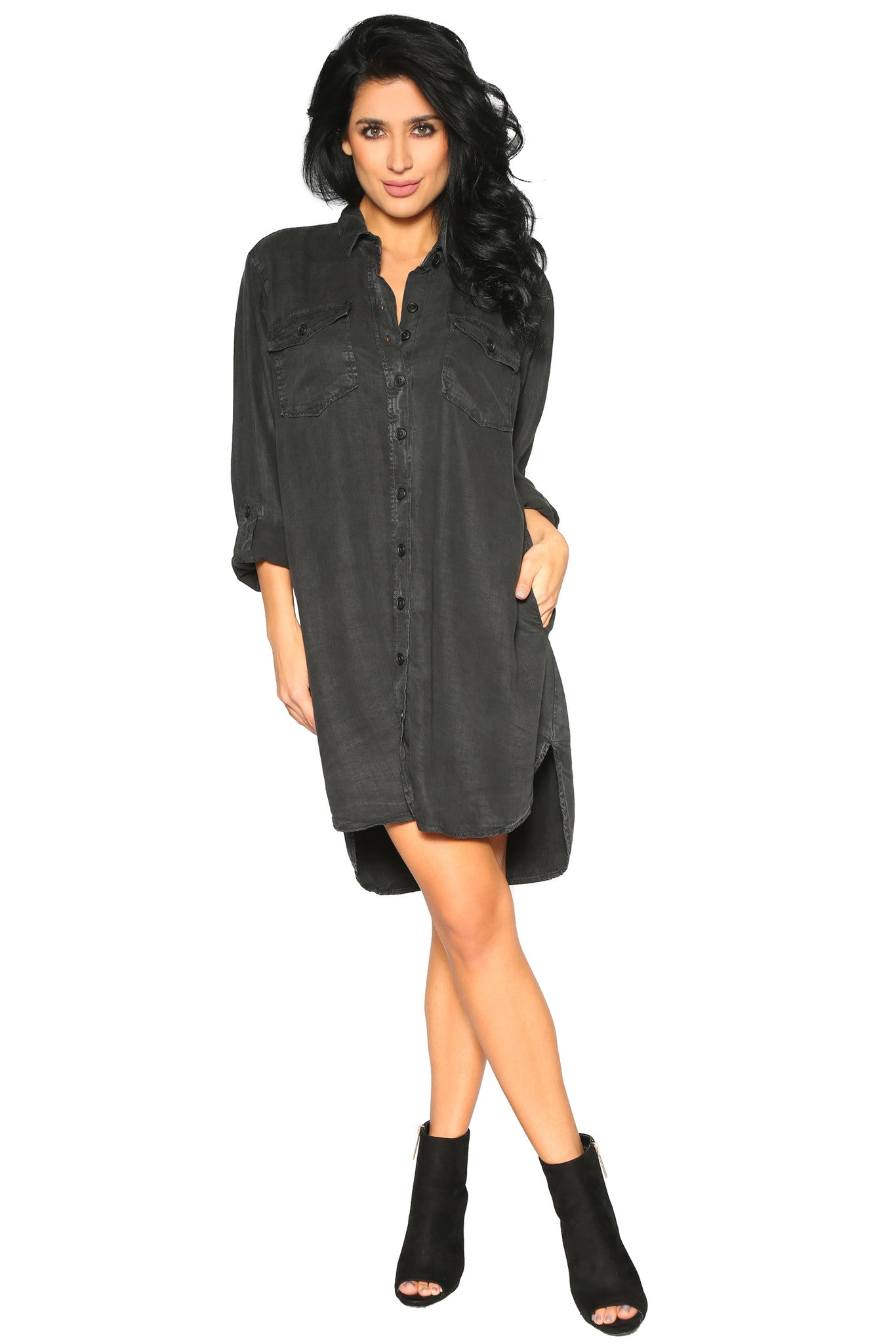 NATASHA SHIRT DRESS - Glam Envy - 1