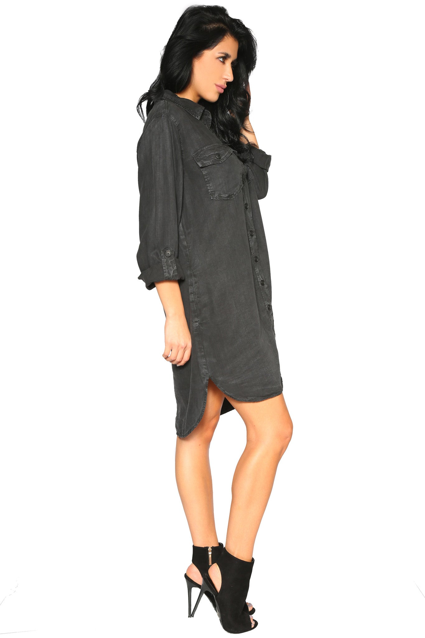 NATASHA SHIRT DRESS - Glam Envy - 2