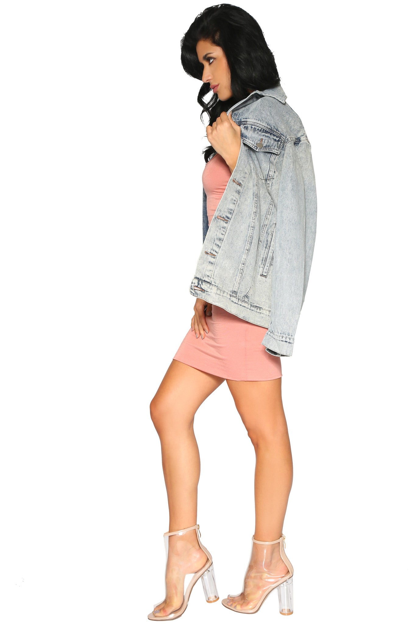CLEO OVERSIZED DENIM JACKET - Glam Envy - 5