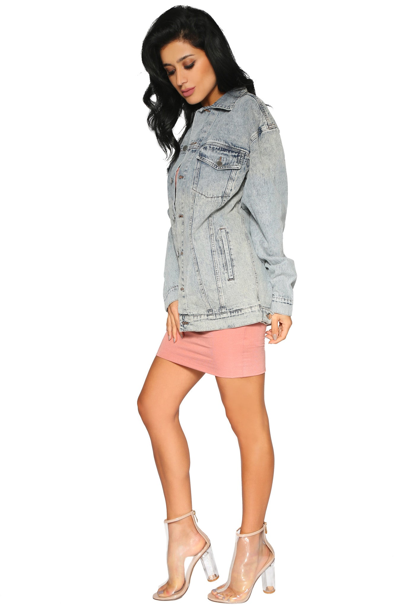 CLEO OVERSIZED DENIM JACKET - Glam Envy - 2