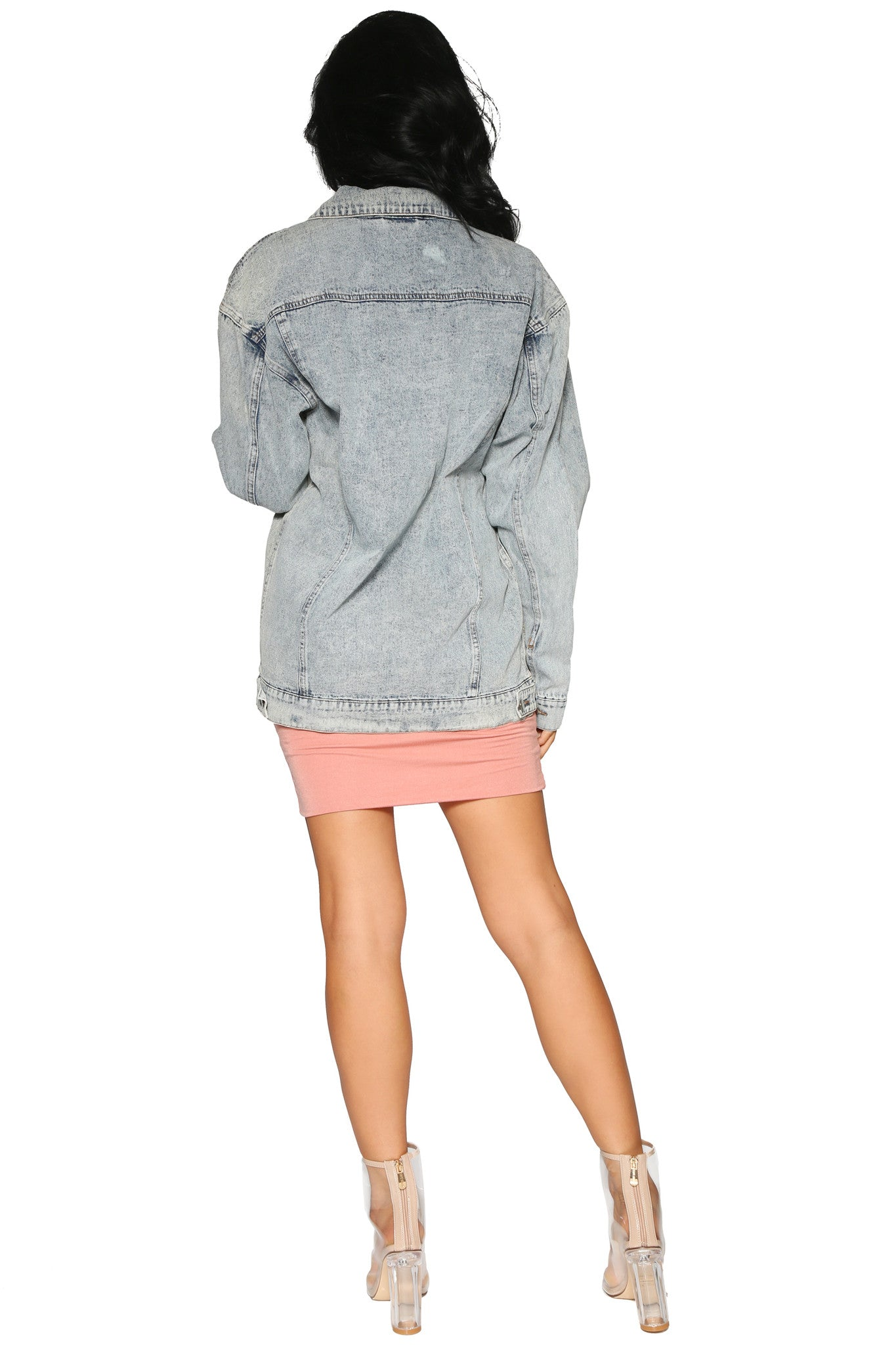 CLEO OVERSIZED DENIM JACKET - Glam Envy - 3