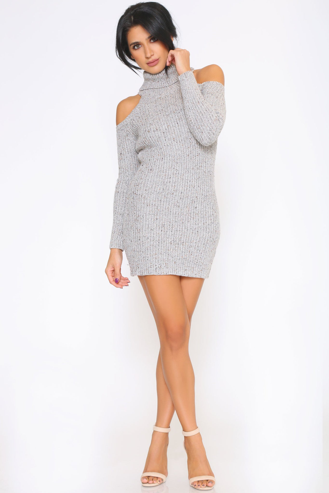 HAZEL SWEATER DRESS - Glam Envy - 1