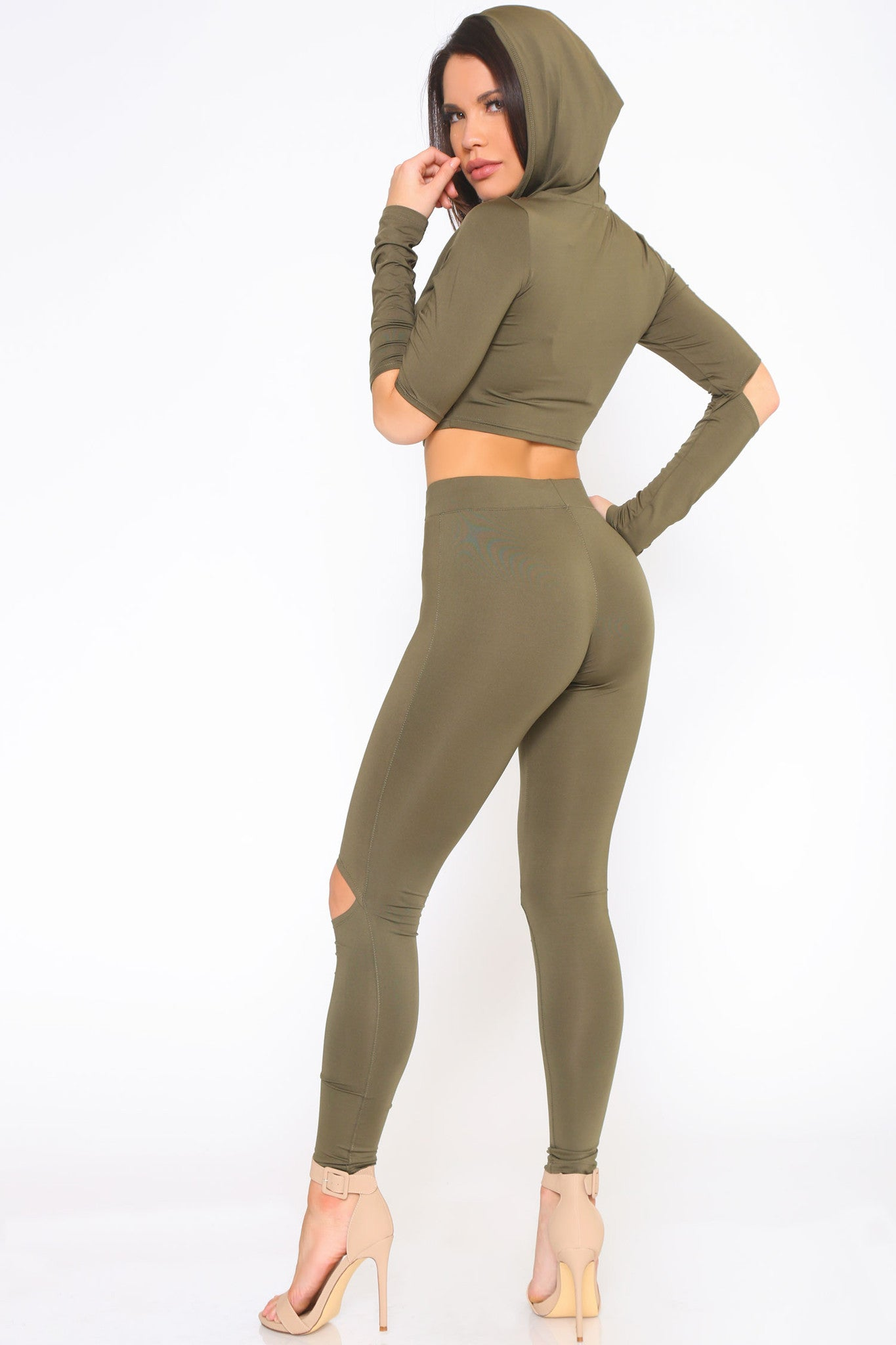 YONCE CROP TOP AND LEGGINGS SET - Glam Envy - 2