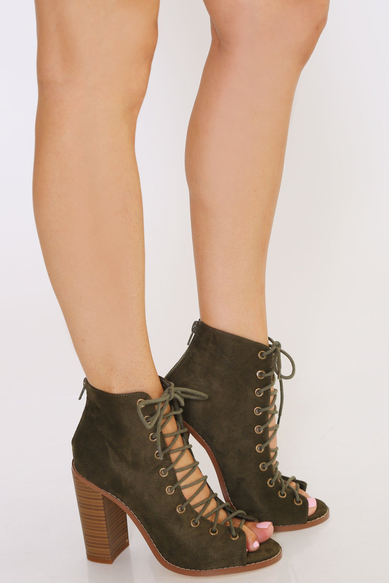 SHEELA LACE UP BOOTIES - Glam Envy - 1
